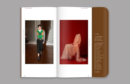 The new Wallet issue features a 20-page historical retrospective of historical moments by fashion designers.