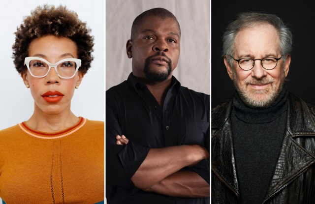 Amy Sherald, Kehinde Wiley and Steven Spielberg