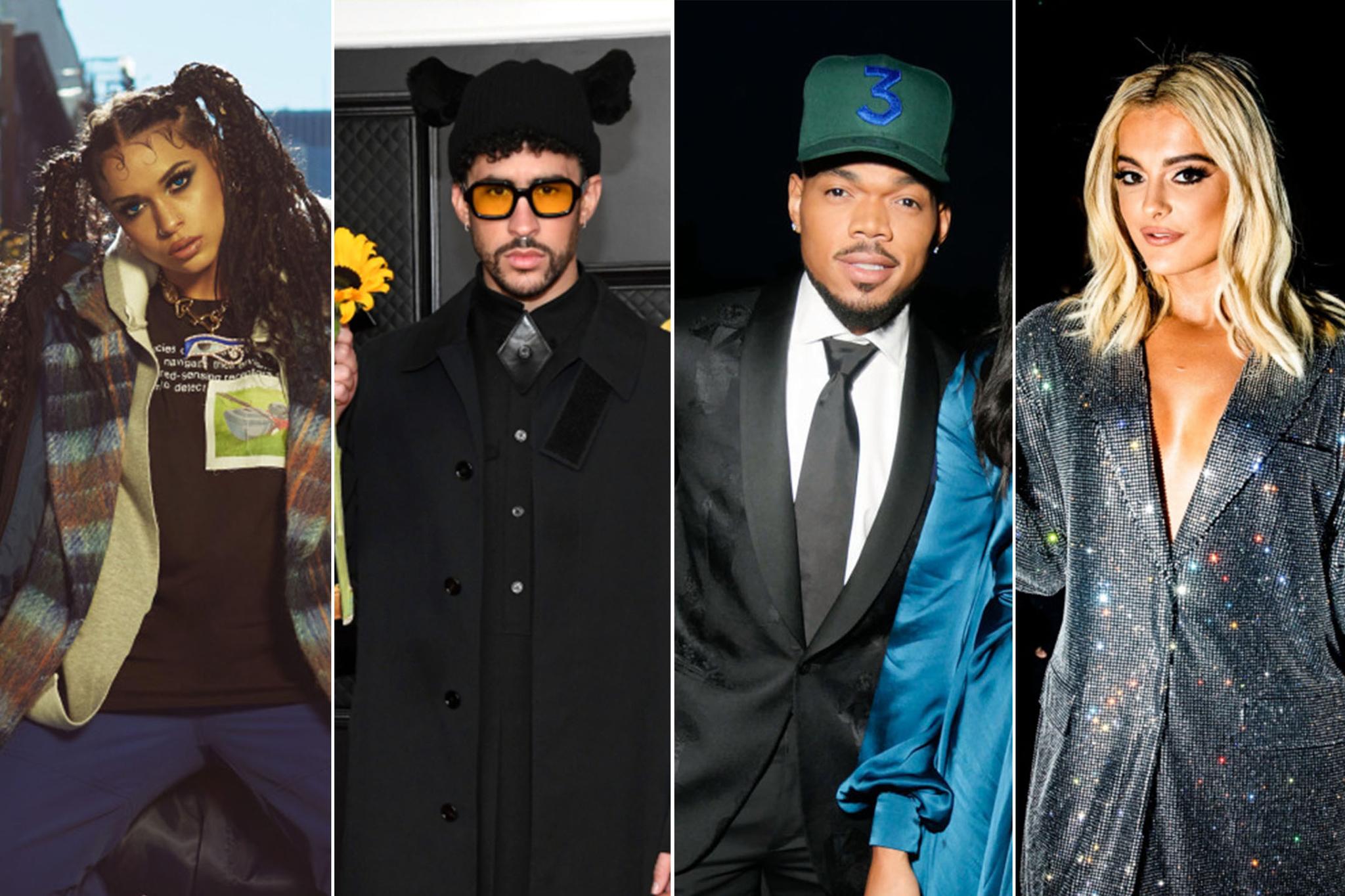 Princess Nokia, Bad Bunny, Chance The Rapper and Bebe Rexha