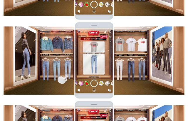 Levi's has never shied away from tech, whether via partnerships with Google or Kohl's on a virtual Snapchat closet stocked with Levi's apparel (picture). Now the denim brand is homegrowing its own data science talent.