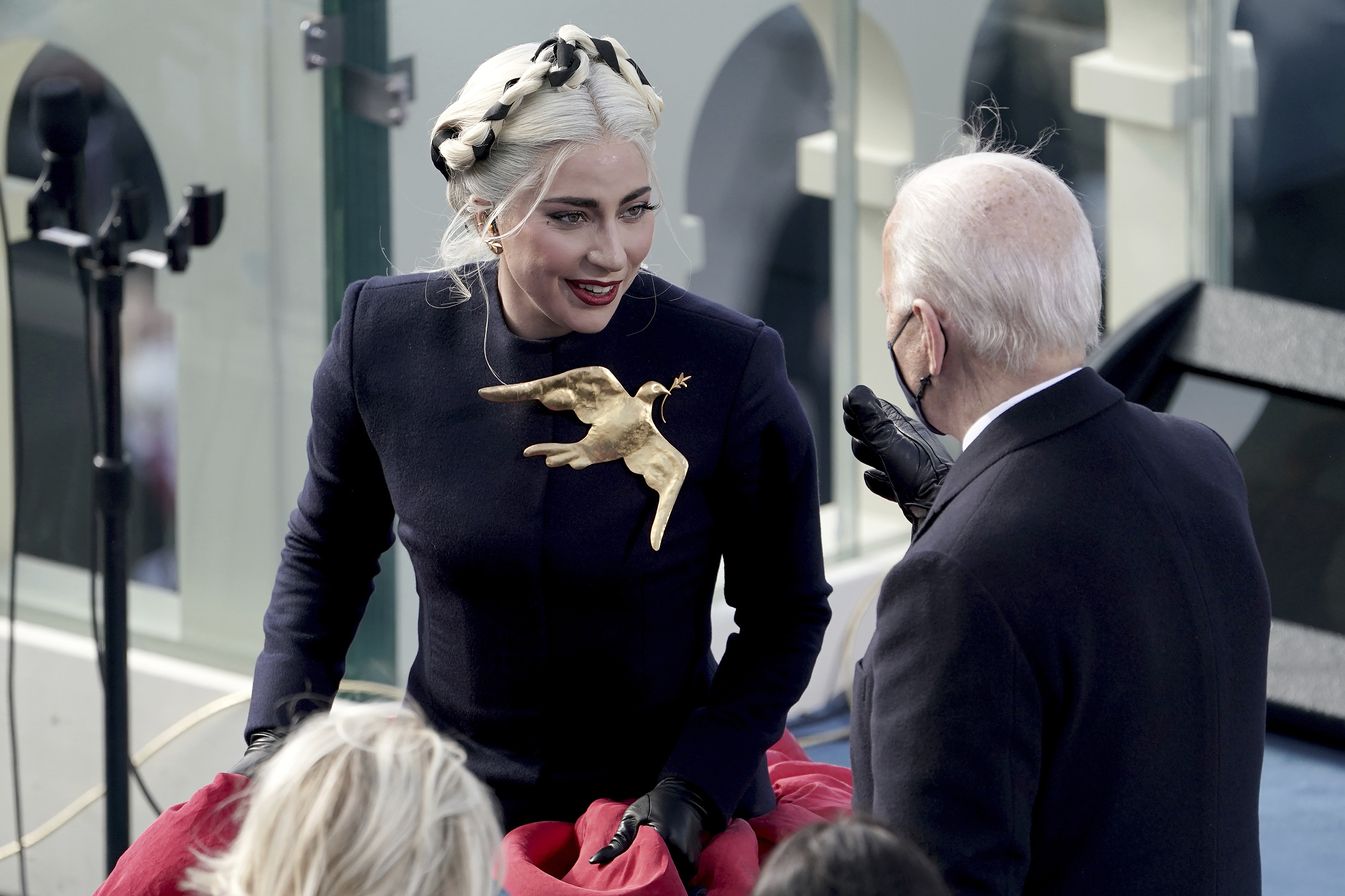 Lady Gaga Inauguration Schiaparelli Dove Brooch