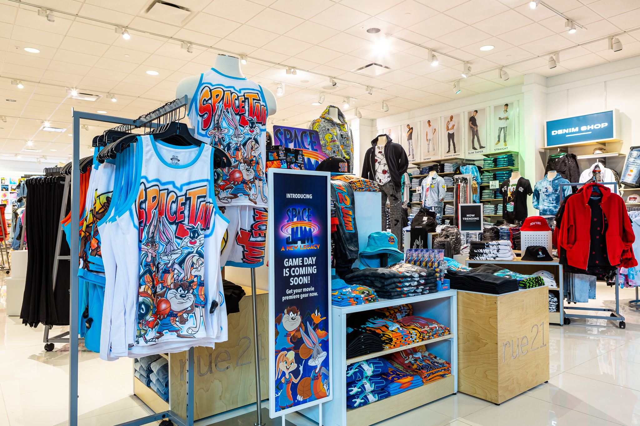 rue21's exclusively licensed Space Jam collection.
