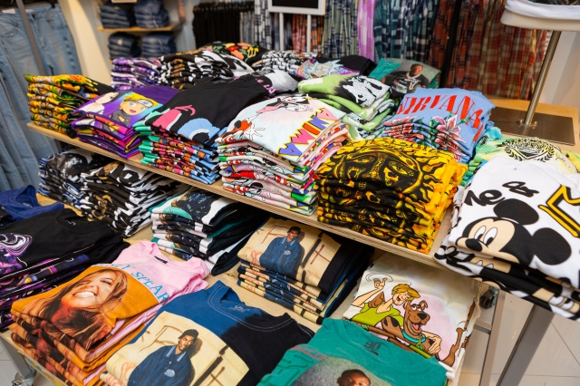 rue21's graphic tee selection available in sizes xs-4x.