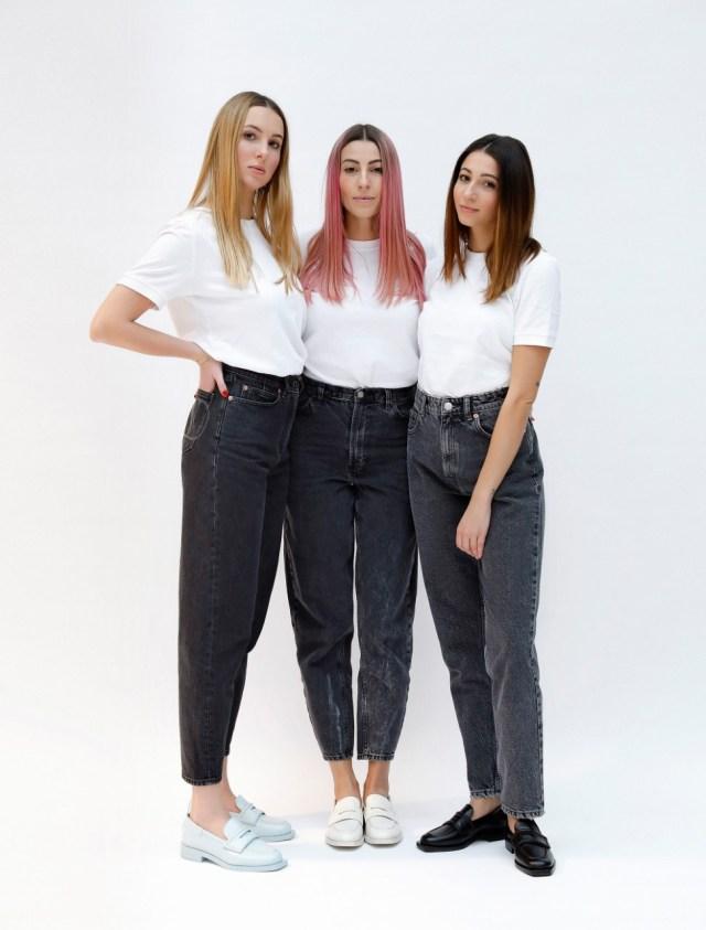 Antonia, Perla and Margherita Alessandri, cofounders of footwear brand 3Juin.