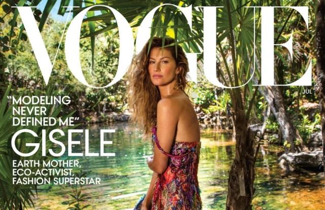 Gisele Bundchen on the July cover of Vogue