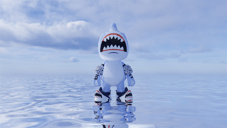 Burberry's limited-edition NFT vinyl toy, Sharky B