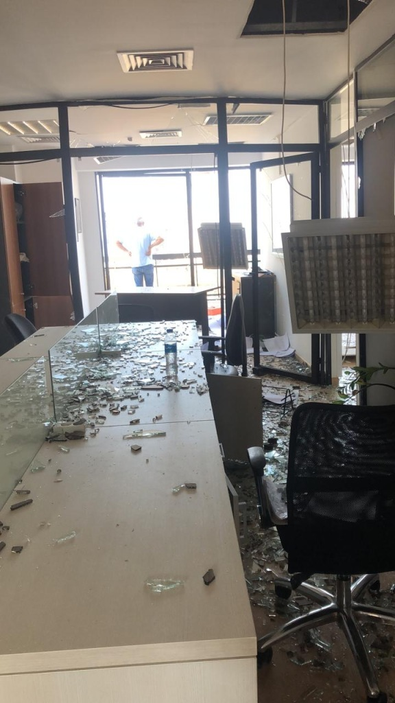 The Maison Pyramide Beirut office after the blast