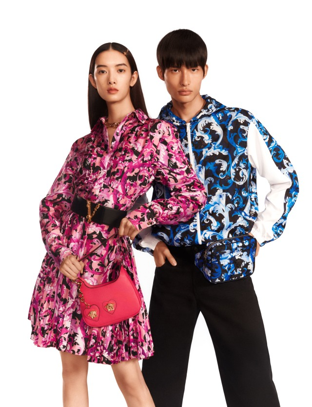 Versace's capsule collection for Qixi.
