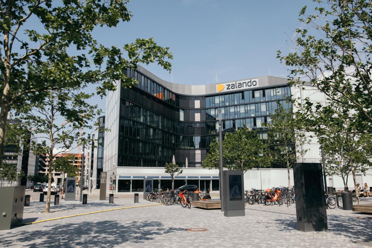 Sunny days: Zalando's HQ in Berlin, Germany.