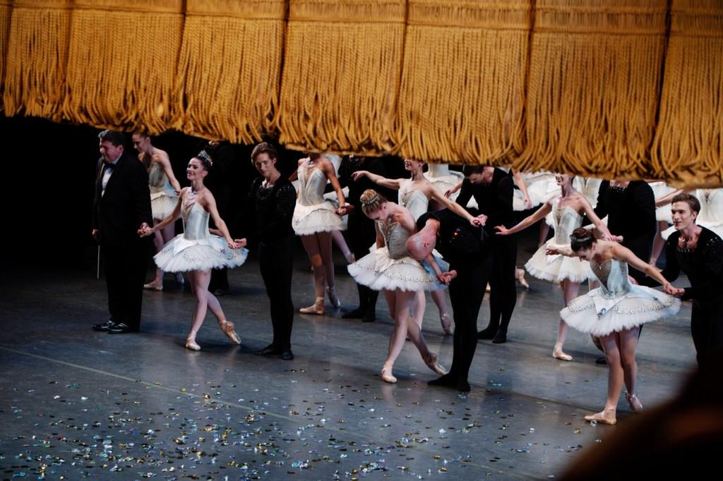 La scène au New York Ballet.