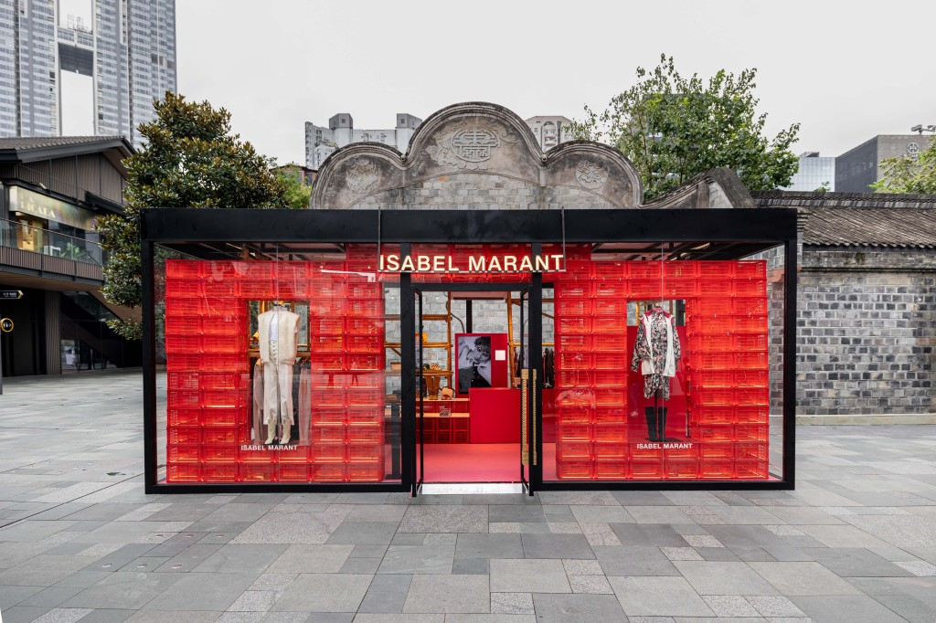 The Isabel Marant pop-up store in Chengdu, China.