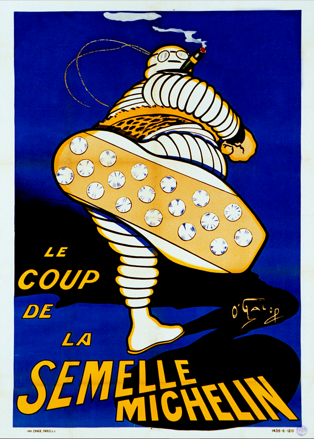 A vintage ad for Michelin rubber soles.