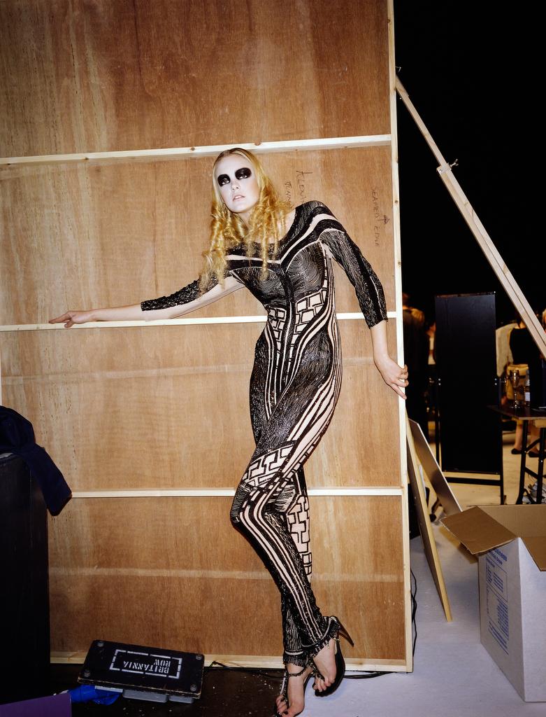 Alexander McQueenExclusive/Retrospective, 2004 Model Caroline Treniti, hair by Eugene Souleiman and make-up by Val Garland