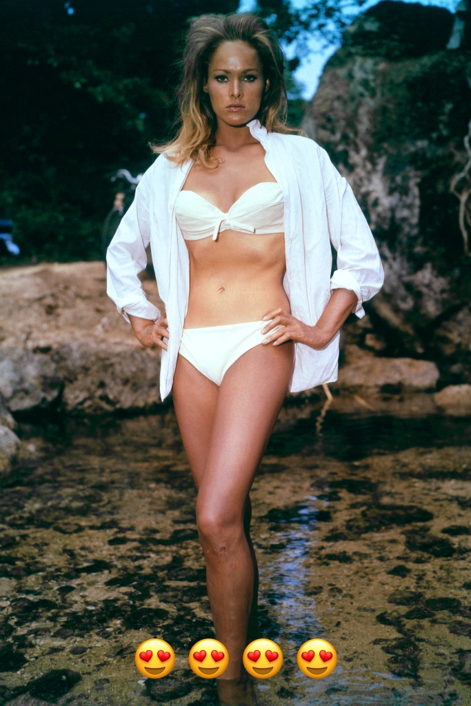 Now this look is a dime a dozen at the beach but for the Sixties, this catapulted her to instant fame and guaranteed her spot in fashion history. A menÕs white shirt over a bikini stands the test of time.