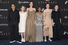 Angelina Jolie and Children Make Rare Red Carpet Appearance at 'Eternals'Premiere