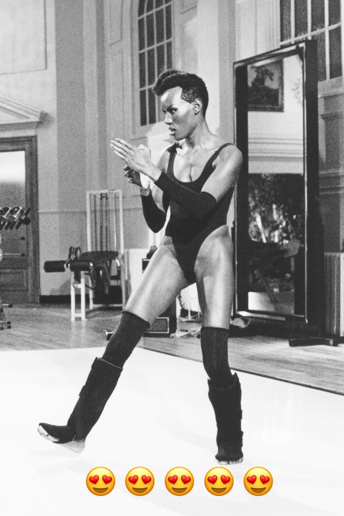 Bodysuits, leg warmers and killer martial arts moves? Yes please. Grace Jones embodied Eighties glamour with edge and personality that was unparalleled - and remains iconic to this day.