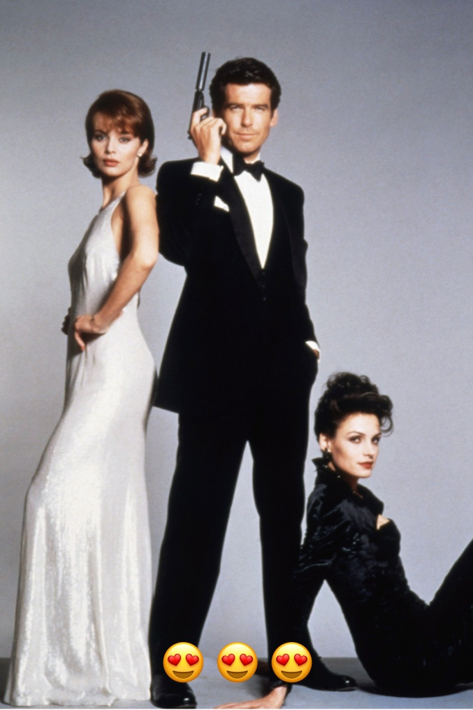 Brosnan always opted for very traditional and classic suit silhouettes, known for his weakness for three piece suits to enhance the British-ness of the character. Adding a three piece to the tuxedo Bond uniform gave it a new glam twist.