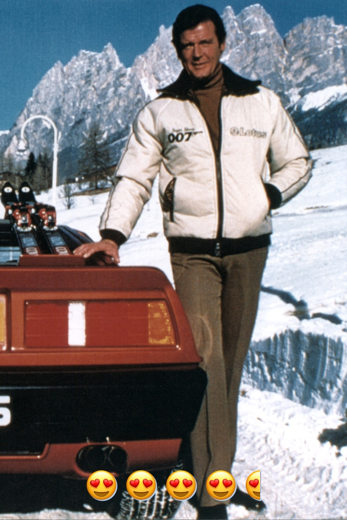 Known as the most comedic Bond, Moore used fashion as a way to enhance his character. He introduced Bond to Eighties glam apres ski with white ski jackets with shoulder pads worn over fitted black and brown turtlenecks. Pure fashion gold.